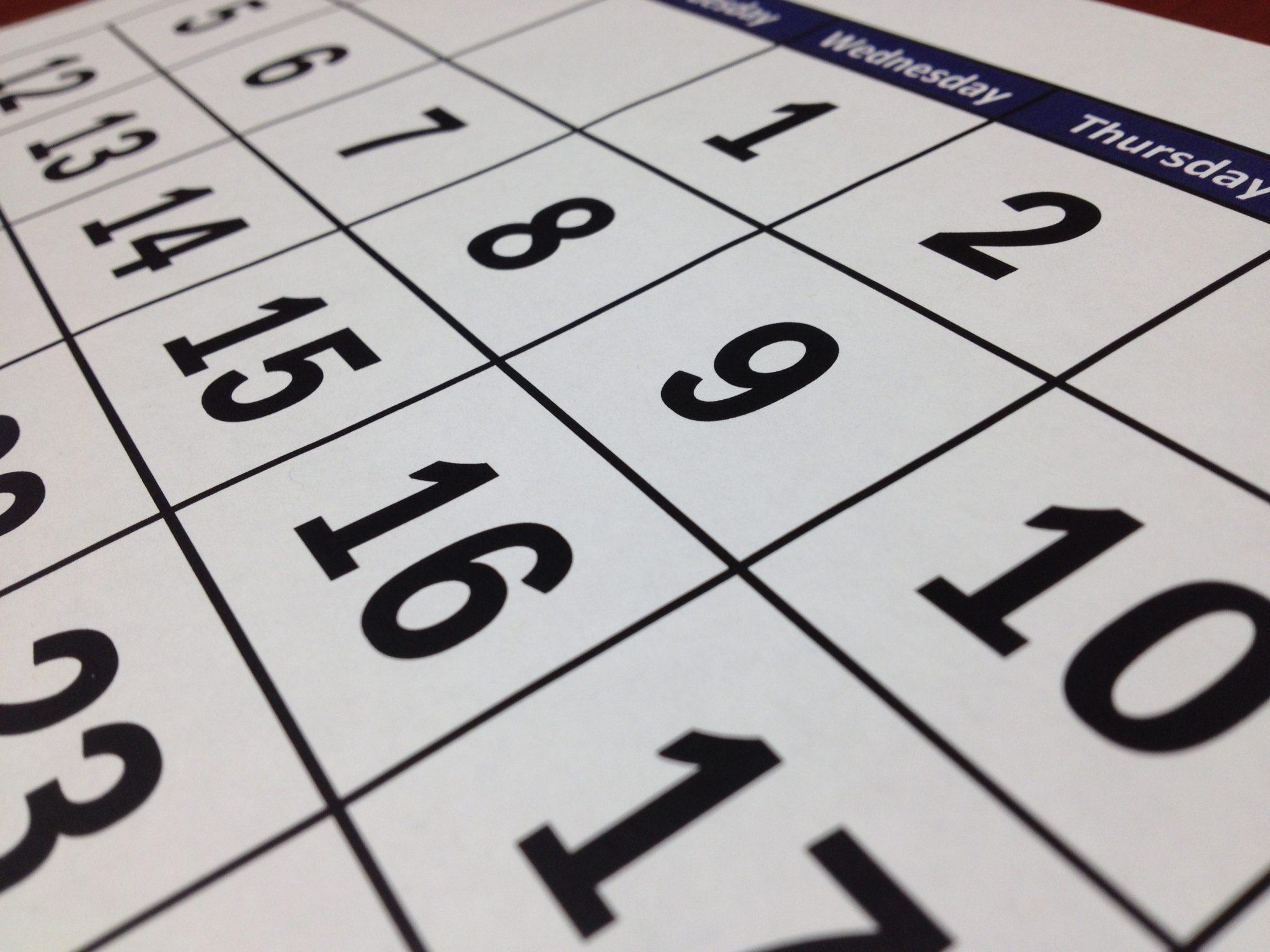 Calendario RTO